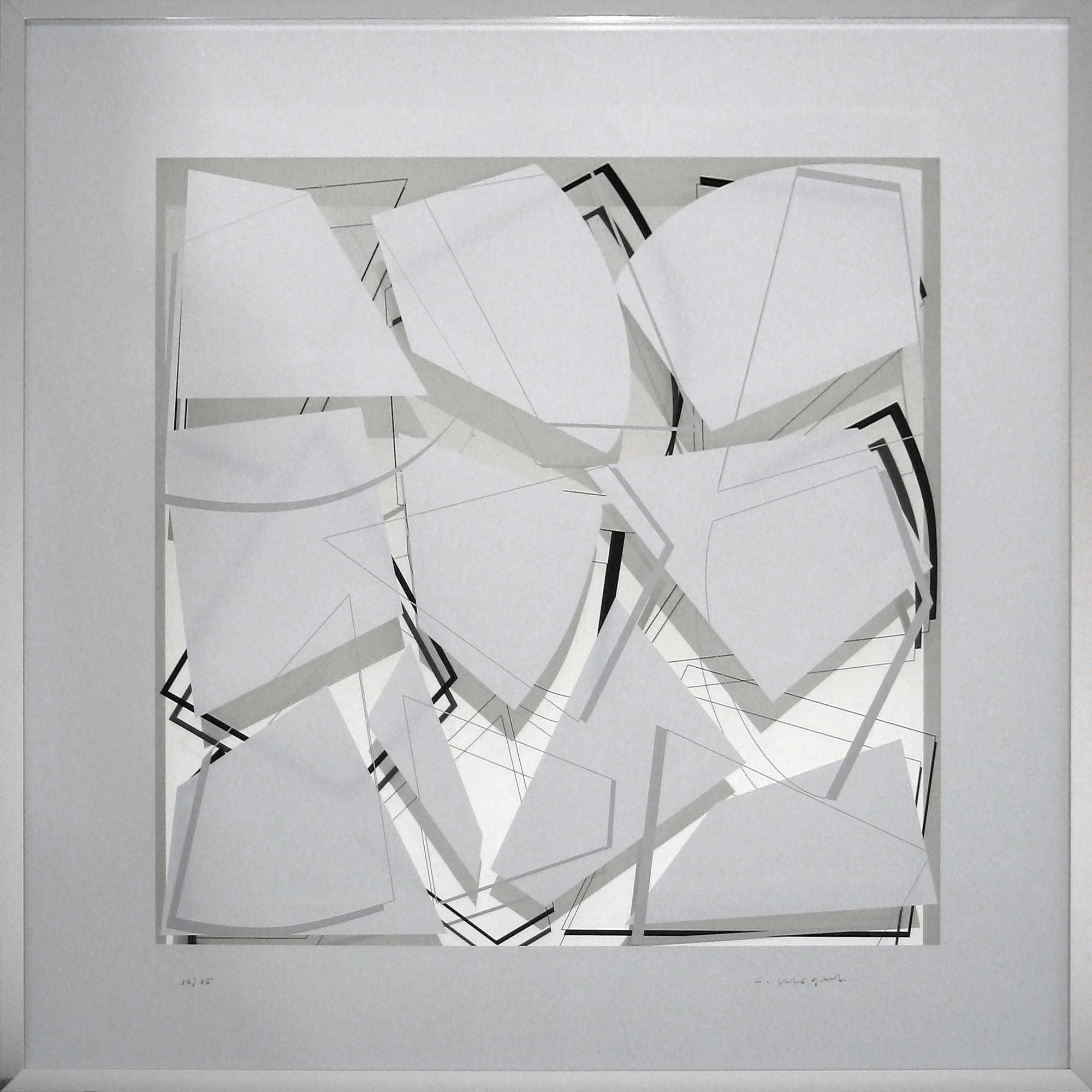 Linien auf Weiß Spiegel im Quadrat 4