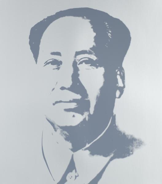 Mao Tse-Tung Kopf Grau