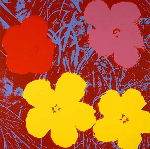 Blumen 71 Gelb/Rot/Pink