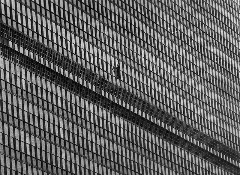 New York, Fensterputzer UN Gebäude, 1962