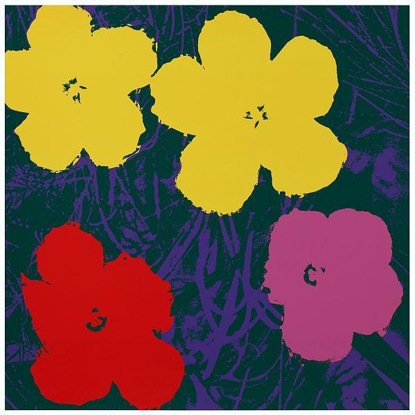Blumen 65 Gelb/Pink/Rot