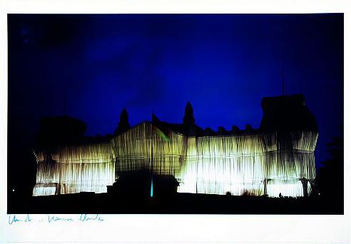 Reichstag Westfassade tiefe Nacht
