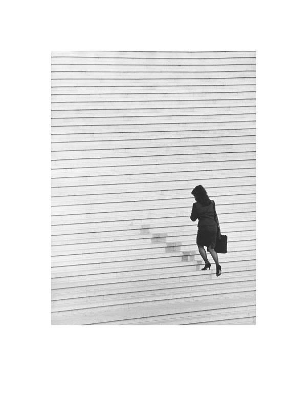 Paris, La Defense, Treppe zu Grand Arche II, 1994