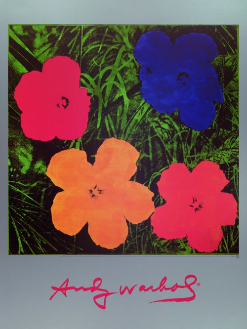 Flowers Blau/Rot/Orange/Gelb