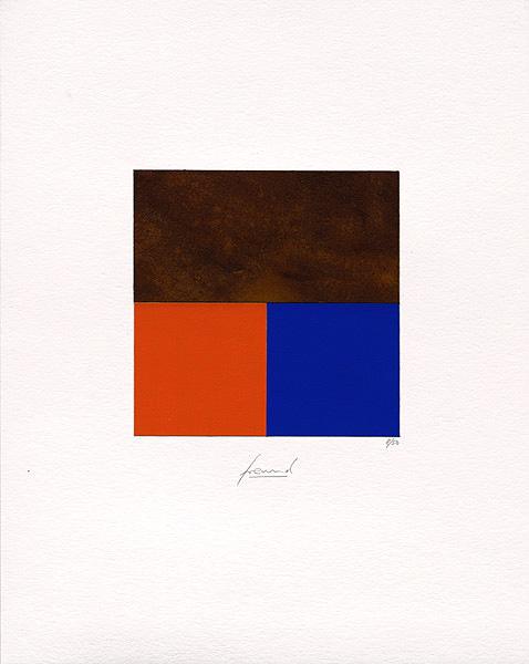 Rost + Orange/Blau