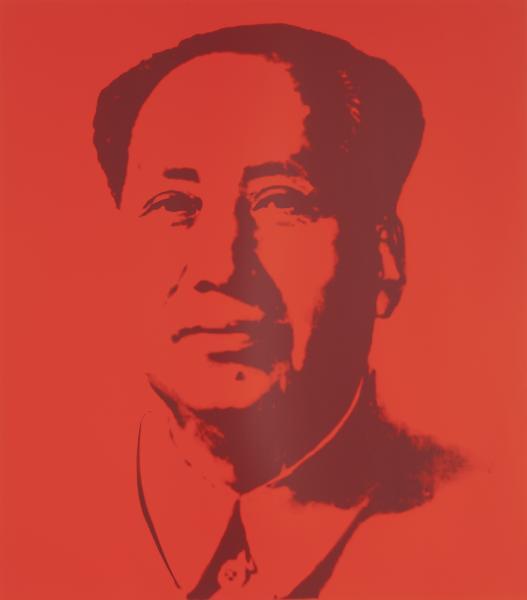 Mao Tse-Tung Kopf Rot