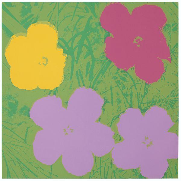 Blumen 68 Rosa/Gelb/Pink