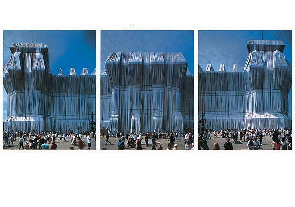 Reichstag Westfassade Triptychon