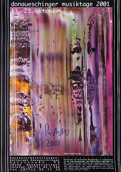 Plakat Donaueschingen 2001