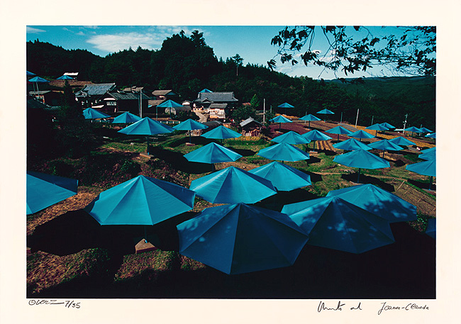 Umbrellas Jinba Blue
