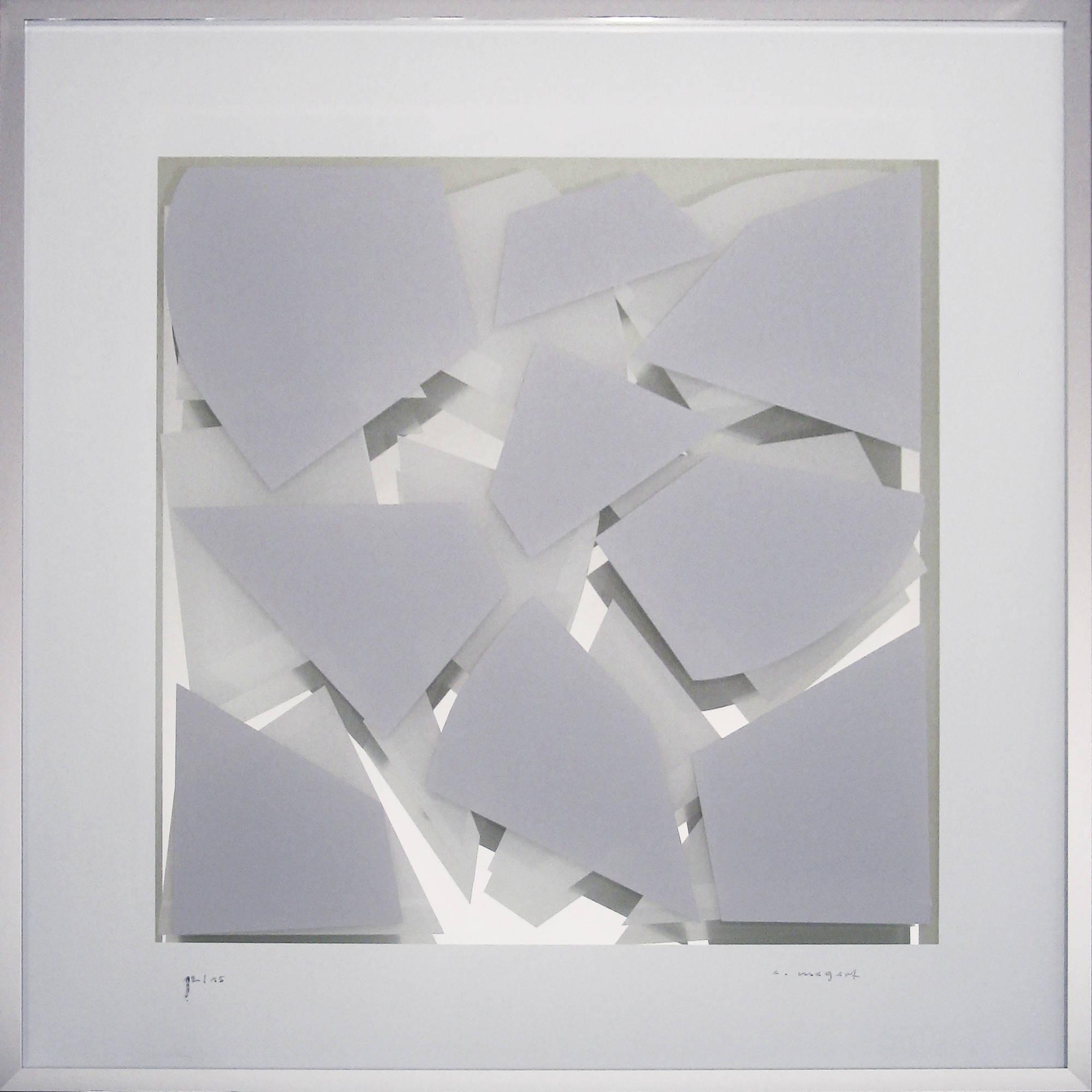 Grau-Weiß Spiegel im Quadrat 2