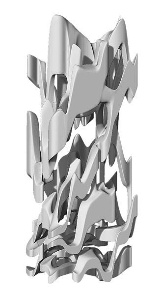 Architekturskulptur Grau