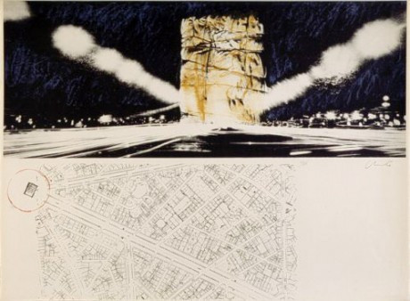 Christo_Arc_de_Triopmhe_Paris_2020_Siebdruck_Edition_Kunstwerk_Silkscreen_artwork