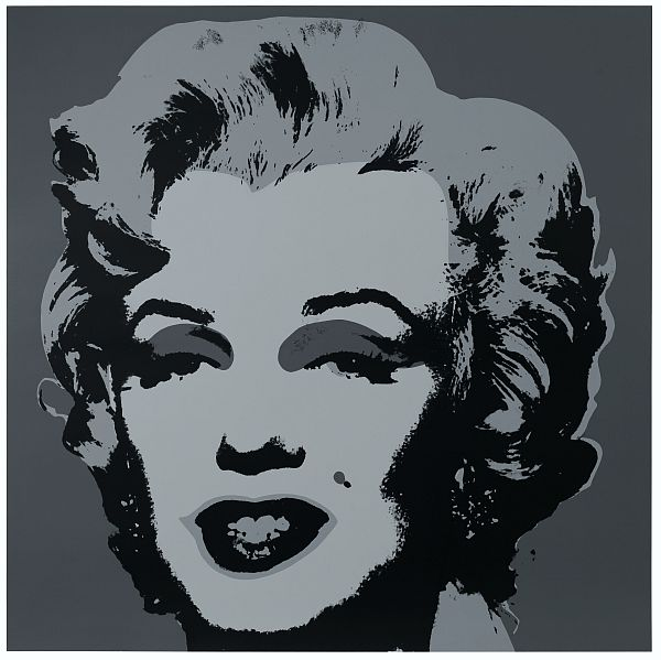 Marilyn Kopf Silber-Grau-Schwarz