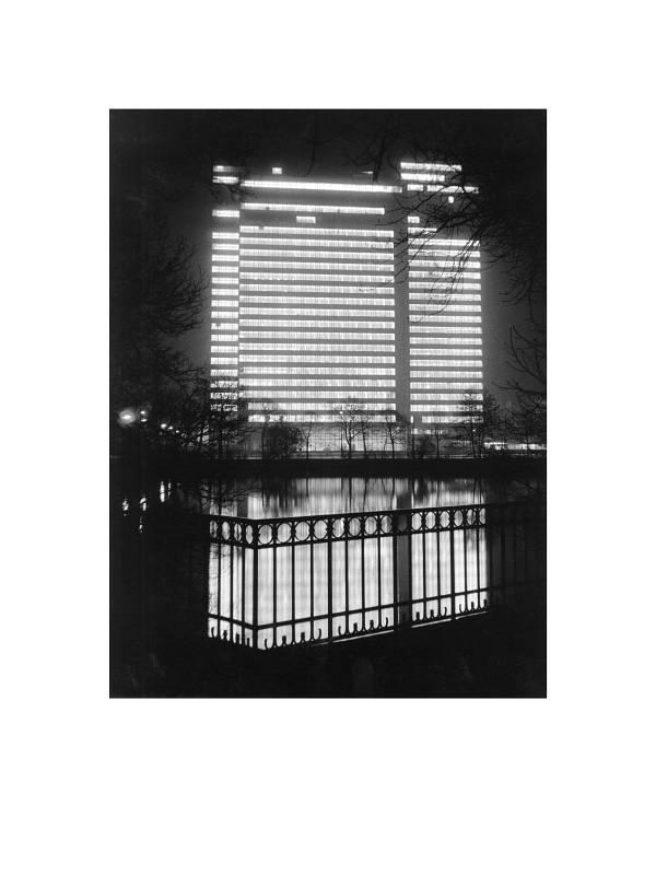 Düsseldorf, Dreischeibenhaus, 1960