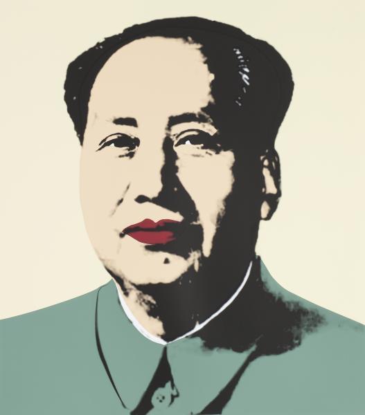 Mao Tse-Tung Kopf Gelb