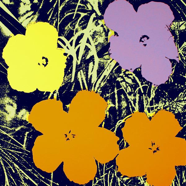 Blumen 67 Ocker/Gelb/Flieder