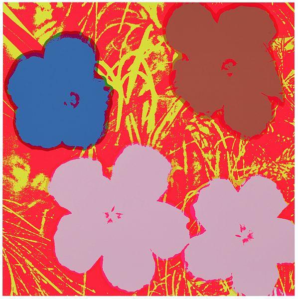 Blumen 69 Flieder/Lila/Beige