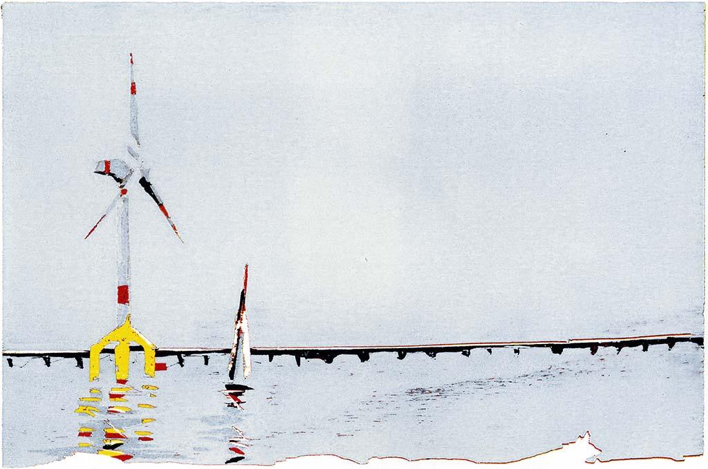 Windrad am Hafen