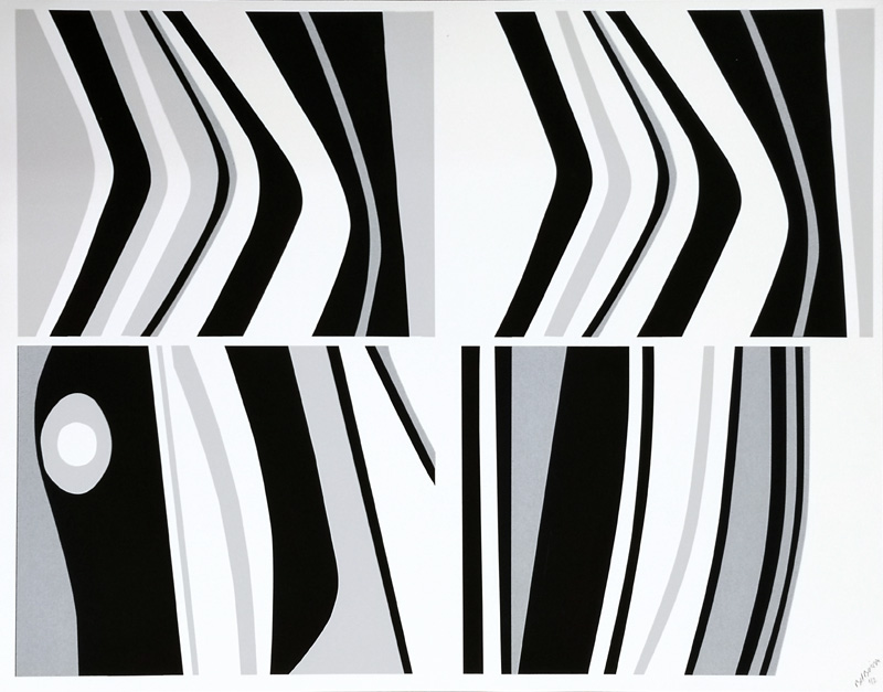 Black, White, Grey and Silver Stripes