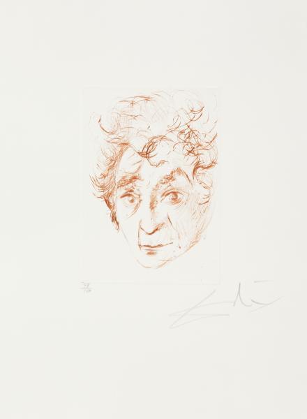 Chagalls Kopf - Quinze Gravures