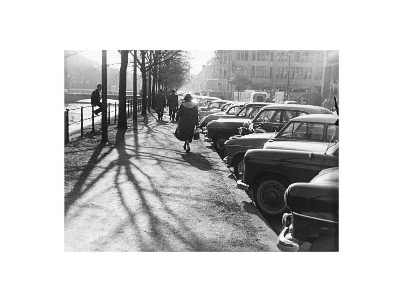 Düsseldorf, Königsallee Westseite, 1958