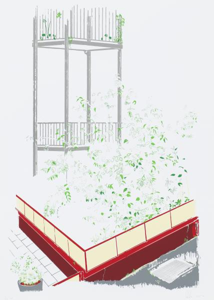 Roter Balkon