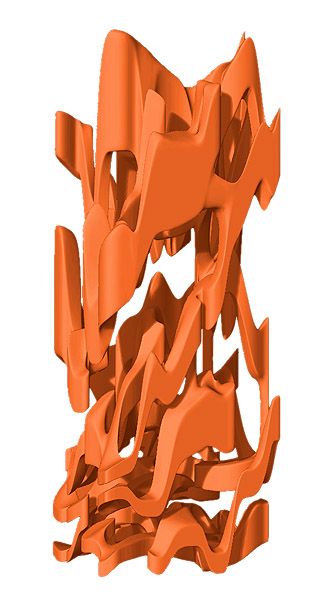 Architekturskulptur Orange