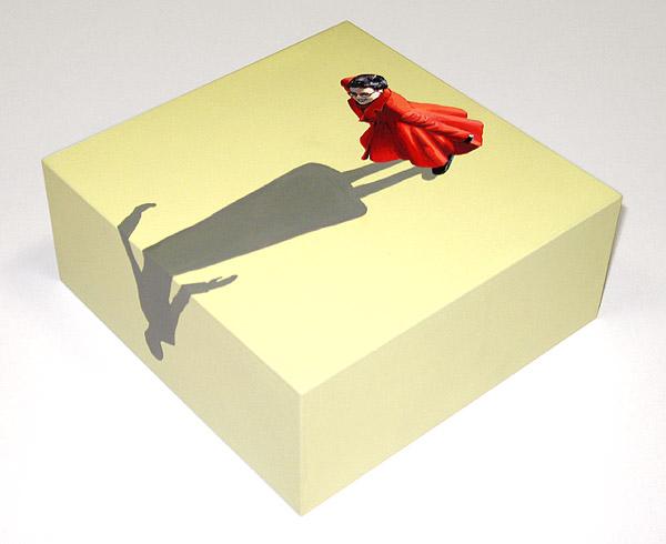 Tanzende Frau im roten Mantel II