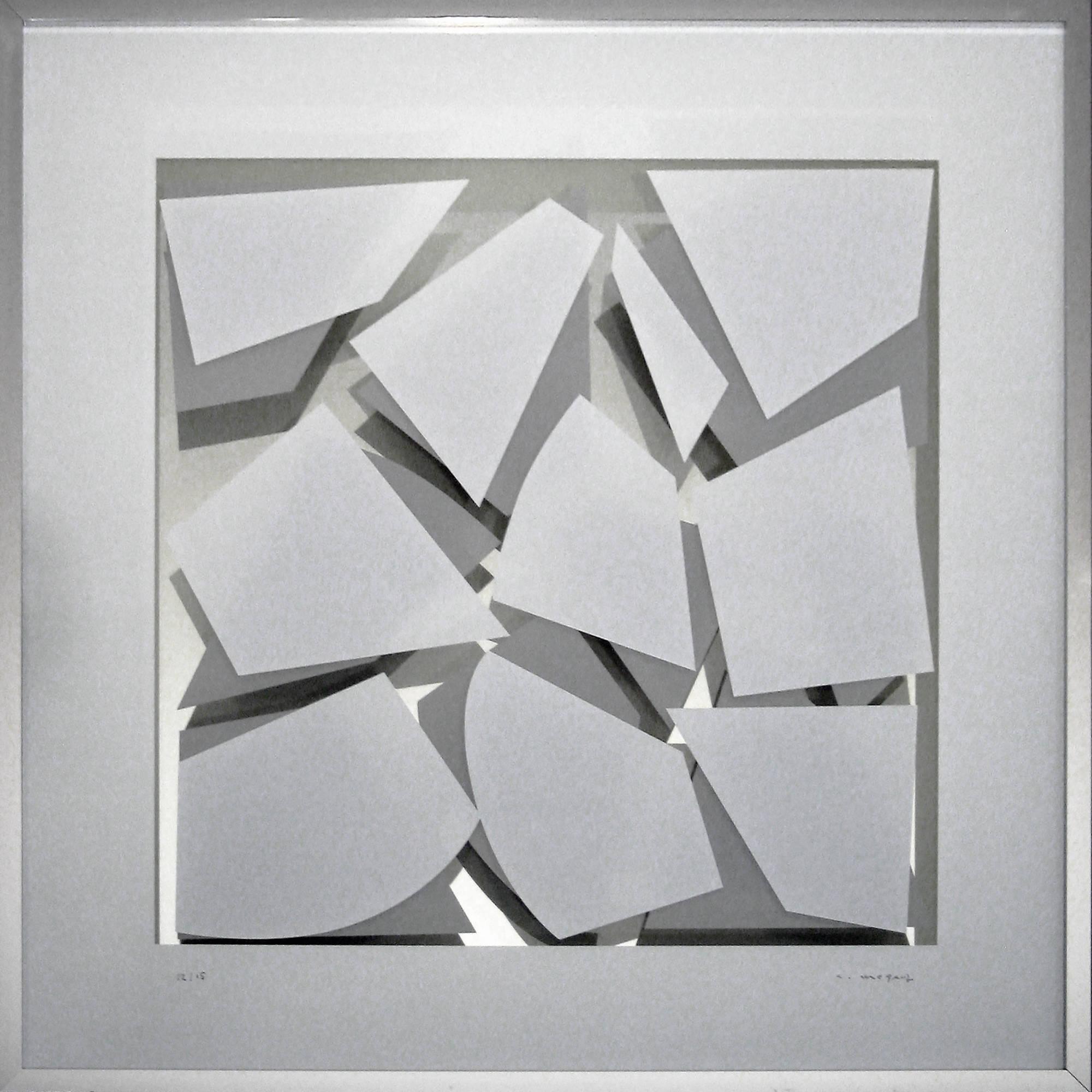 Weiß-Grau Spiegel im Quadrat 1