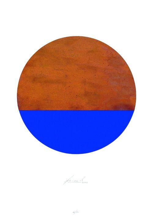 Kreis Rost + Ultramarin-Blau