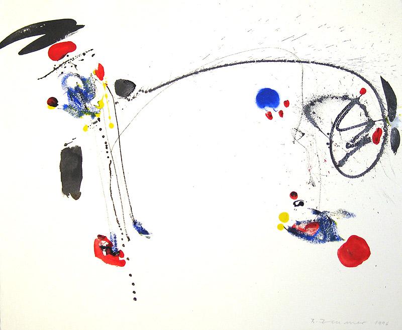 Abstrakt auf Bütte, 1996 - Unikat